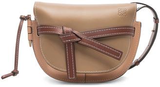 Loewe Gate Small Bag in Mocca & Powder | FWRD