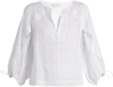 Amanda Wakeley Lyrical linen blouse