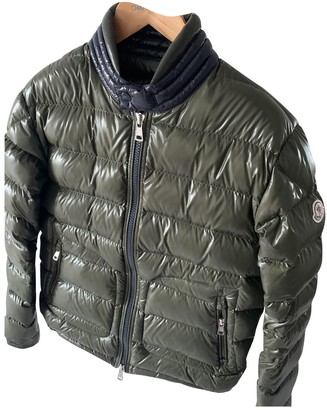 Moncler Khaki Polyester Coats