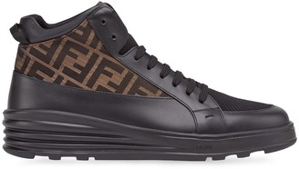 Fendi jacquard FF logo high-top sneakers