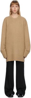Maison Margiela Tan Pilled Oversized Sweater