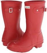 Hunter Short (Black Matte) Women's Rain Boots
