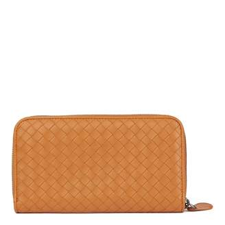 Bottega Veneta Orange Leather Wallets