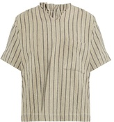 Craig Green Striped V-neck top