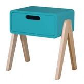 Laurette Natural Wooden Foot Little Robot Bedside Table