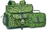Bixbee Boy's 'Large Dino Camo' Water Resistant Backpack & Lunchbox - Green