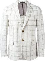 Eleventy checked blazer - men - Linen/Flax/Polyamide/Cupro - 52