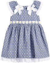 Bonnie Baby Floral-Print Gingham Dress, Baby Girls