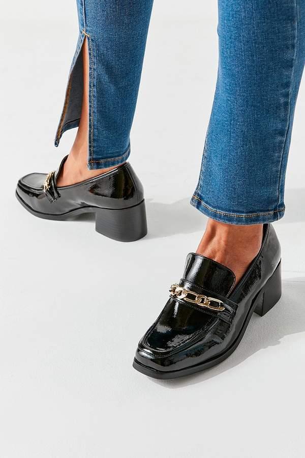 4583b0e1a0091 Gema Chain Trim Heeled Loafer