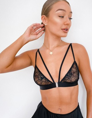 OW Intimates Tara lace bra in black