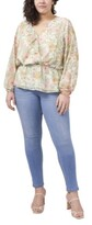 Thumbnail for your product : Vince Camuto Plus Size Long Sleeve Ruffled Vernona Garden Wrap Blouse