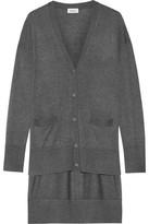 DKNY Asymmetric Stretch-Knit Cardigan