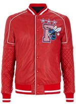 Philipp Plein Perforated Leather Varsity Jacket