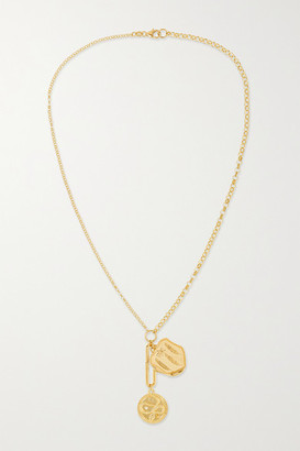 Foundrae Wholeness And Pax 18-karat Gold Diamond Necklace - one size