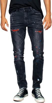 Zgy Denim Pipes Rip & Repair Skinny Fit Jeans