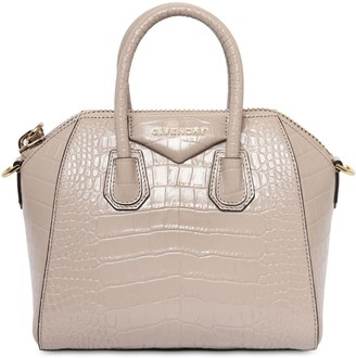 Givenchy Mini Antigona Croc Embossed Leather Bag