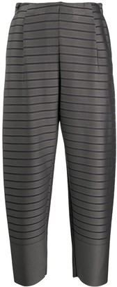 Issey Miyake Striped Cropped Trousers