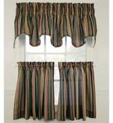 Montego Stripe 45-Inch Window Curtain Tier (Set of 2)