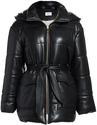 Nanushka Lenox Vegan Leather Puffer Coat