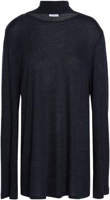 IRO Laurel Cutout Brushed-jersey Turtleneck Top