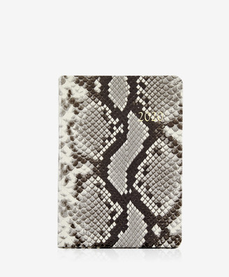 GiGi New York 2020 Notebook, Natural Italian Printed Python