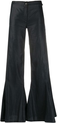 Chanel Pre Owned High-Waisted Flared Trousers