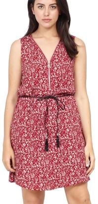 M&Co Izabel Curve ditsy floral zip neck dress