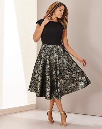 N. Joanna Hope Jacquard Fit Flare Dress