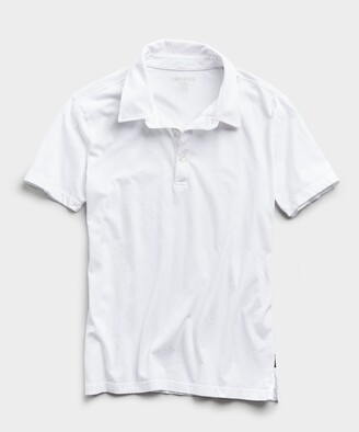 Todd Snyder Made in L.A. Short Sleeve Jersey Polo in White