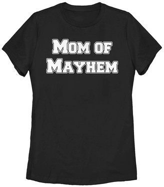 Fifth Sun Women's Tee Shirts BLACK - Black 'Mom of Mayhem' Crewneck Tee - Women, Juniors & Plus