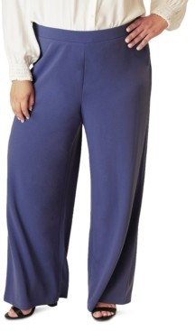 Maree Pour Toi Plus Size Wide-Leg Pants