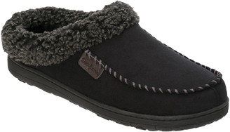 Dearfoams Men's Microsuede Slipper Clogs With Cuff