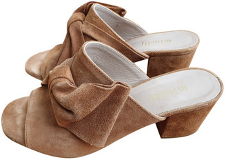 Minelli Camel Leather Sandals