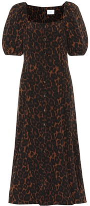 Erdem Mariona leopard-print silk dress