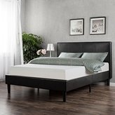 Sleep Master Memory Foam 10 Inch Mattress and Faux Leather Platform Bed Set, King