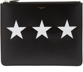 Givenchy Star-print leather document holder