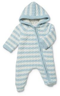 Angel Dear Unisex Sherpa Lined Knit Footie - Baby