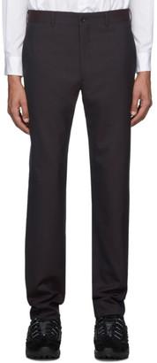 Comme des Garcons Purple Tropical Wool Trousers
