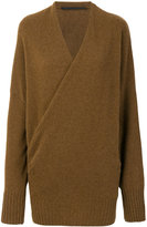 Haider Ackermann v-neck wrap front jumper