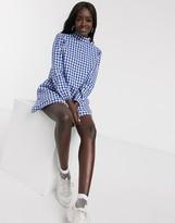 Daisy Street high neck mini smock dress in gingham