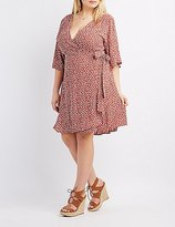 Charlotte Russe Plus Size Floral Wrap Skater Dress