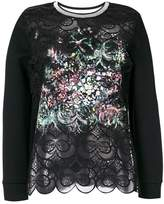 Fendi embroidered openwork blouse