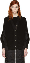 Sacai Black Knit Cotton Cardigan