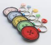 Honeypips Fabric Button Keyring