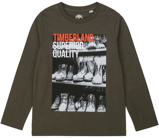 Timberland Kids Boy Green Tshirt