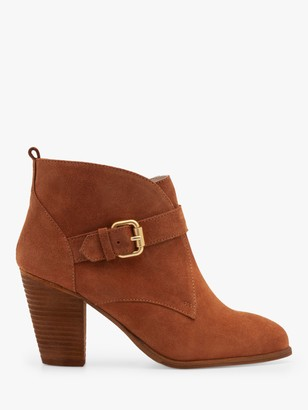 Boden Carlisle Suede Heeled Ankle Boots, Tan