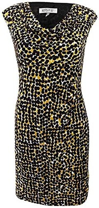 Kasper Women's Petite Size Cap Sleeve Splatter Printed Ity Dress