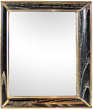 One Kings Lane Vintage Hollywood Regency Vanity Mirror - House of Charm Antiques - black/gold/white
