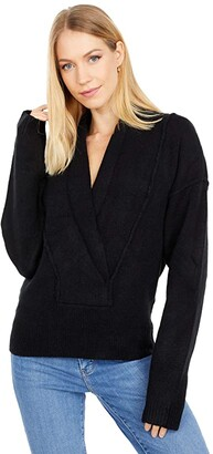 Free People Touch The Sky Sweater (Black) Women's Clothing