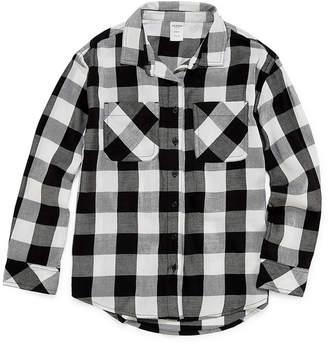 Arizona Girls Long Sleeve Button-Front Shirt